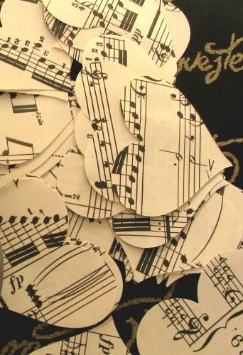 Music Heart Punches -  100 Piece Vintage Sheet Music Packet