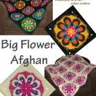 Big Flower Afghan Crochet Pattern PDF
