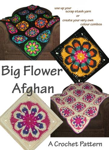 Ravelry: Big Flower Afghan Crochet pattern pattern by Renate