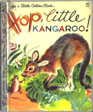 Hop little KANGAROO Vintage Little Golden Childrens Book 558
