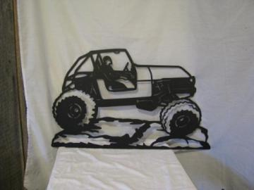 Rock Crawler Jeep Large Metal Wall Yard Art Silhouette