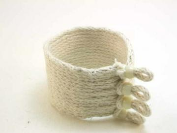 wide cotton cuff loop and toggle  1636