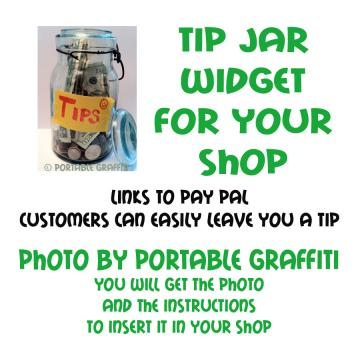 Tip Jar Widget for Your Shop