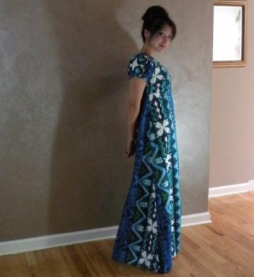 Penneys Hawaii Blue Maxi Dress  34b/ 30w