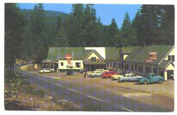 Shaver Lake California Postcard Kens General Store Eckerts Lodge 1960s Vintage View