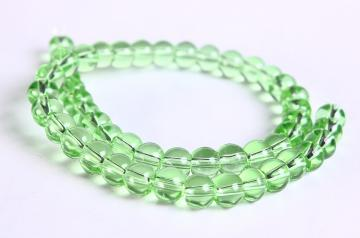 Green bead green round glass beads 50pcs 6mm (282)