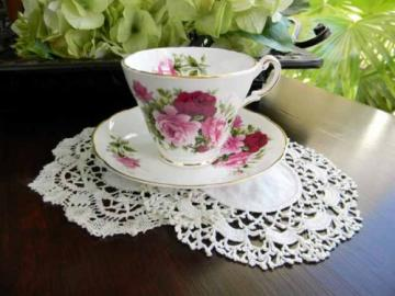 Staffordshire Tea Cup Teacup and Saucer - Fine Bone China 5512