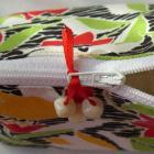 Cosmetic Zippered Bag Pouch In A Bright Hawaiian Floral