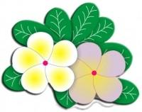 CLD Cutting Die: Frangipani Plumeria with Leaves