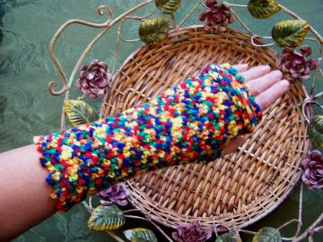 Hippie Chick Acrylic Fingerless Gloves