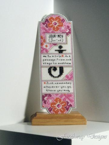 J is for Journey - Cross-stitched Bookmark