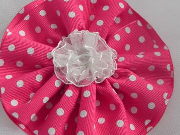 Polk Dot Flower Clip