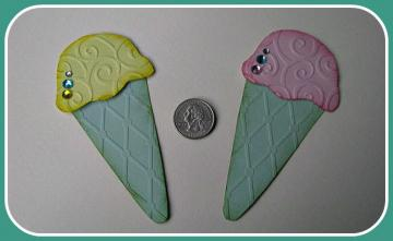 Icecream Cones Card Candy (set of 2)