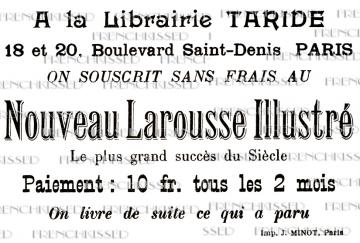 French script Art Noveau PARIS Text Library Encyclopedia Advertisement DIGITAL Postcard Scan
