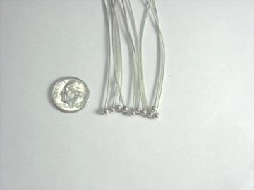 Sterling Silver Headpins 20 gauge 3' with 3mm ball