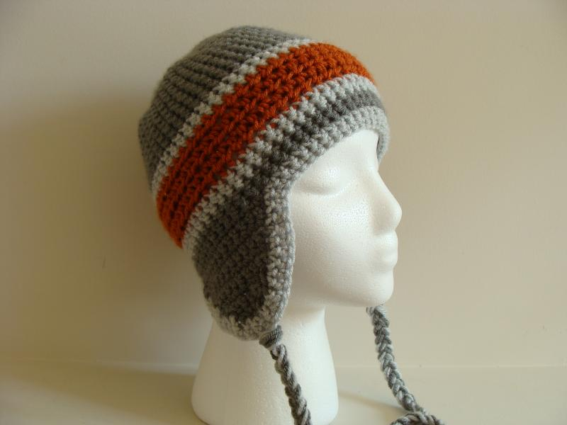 Crochet Patterns Hat With Ear Flaps : Gallery For > Crochet Hats With Ear Flaps