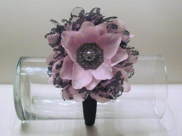 "4"" Vintage Lace Flower on Hard Headband"