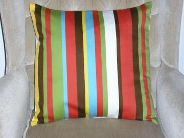 Robert Allen Contemporary Striped Pillow Cover - 18 x 18