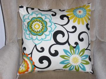 Contemporary Pillow Cover - Waverly Pom Pom Play Confetti Design - 18 x 18