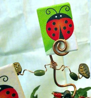 Ladybug Plant Pokes by Bohemian Grove