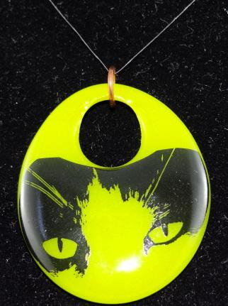 Cat Eyes Dichroic Glass Pendant