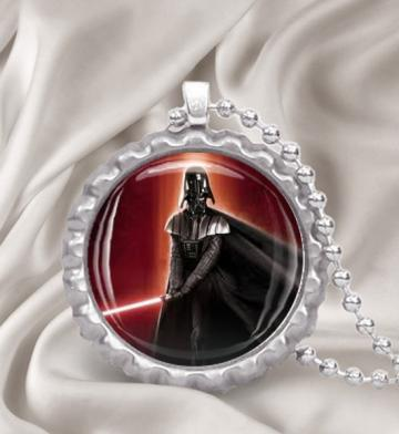 Darth Vader Bottle Cap Pendant Necklace