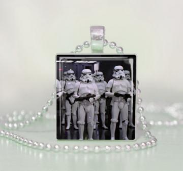 Star Wars StormTroopers Scrabble Tile Pendant Necklace