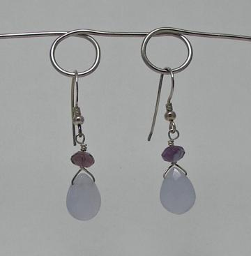 Amazonite and Fluorite Earrings