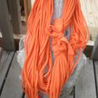Bright Orange T-Shirt Scarf