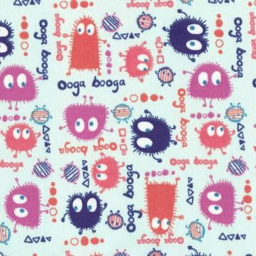 GUMDROP Ooga Booga, Cotton Interlock Knit, by the yard