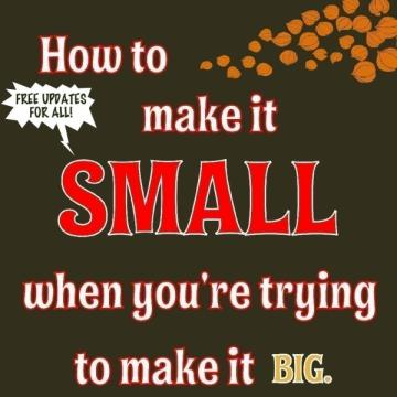 How to Make It Small...Guide to Success