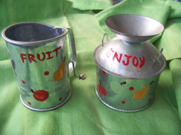 Fruity Tinware Set