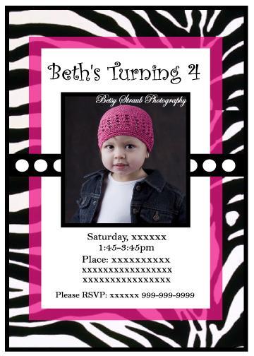 Janessa Castleberry Personalized Birthday Party Invitations - Birthday party invitation reminder