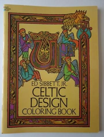 1979 Celtic Design Dover Color Book by Ed Sibbett