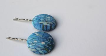 Water Lilies Hair Pins by Willow Be on Zibbet