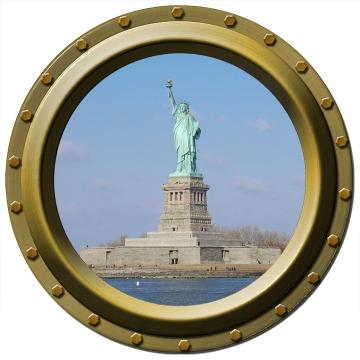 Statue of Liberty Porthole Vinyl Wall Decal