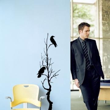 Tree with Crows Vinyl Wall Graphic