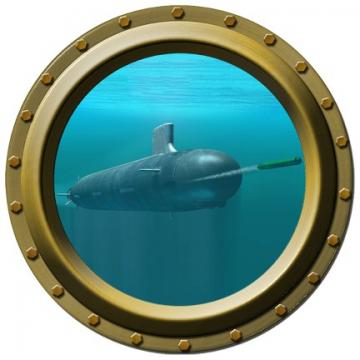 Submarine Porthole Vinyl Wall Decal