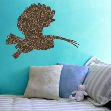 The Flying Owl Patterned Vinyl Wall Decal