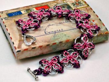 Tumblin' Blooms Chainmaille Bracelet