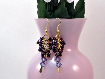 Grapes of Wrath Chainmaille Earrings