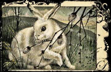 French EASTER Rabbit Art Nouveau DIGITAL scan Antique postcard 7 choices Buy 2 Get 1 FREE