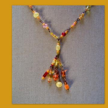 Marigold Fiesta Cluster Necklace
