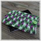 Green and Pink Crocheted Tablet Computer Sweater