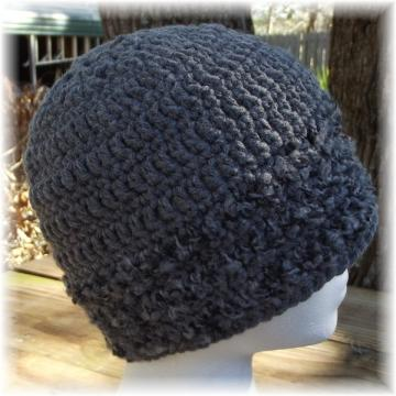 Gray Crocheted Hat