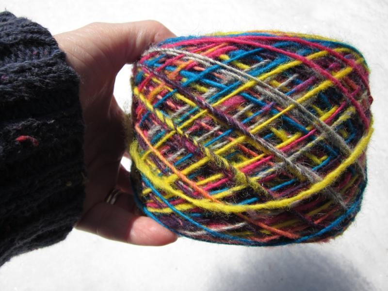 Homespun Wool Yarn, Bright & Colorful Single-Ply