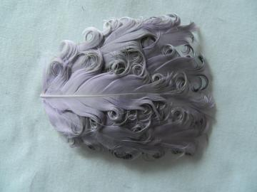 1 Lavender over Grey Nagoire Curly Goose Feather Pad