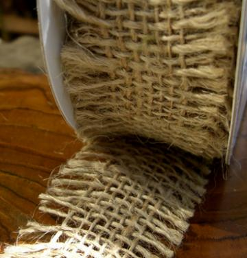 1yd - Natural Frayed Edge Burlap Trim