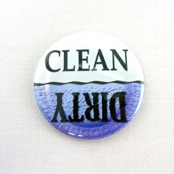 Dirty - Clean DISHWASHER Magnet Button Grape