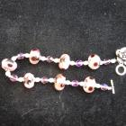 pink flowered bracelet